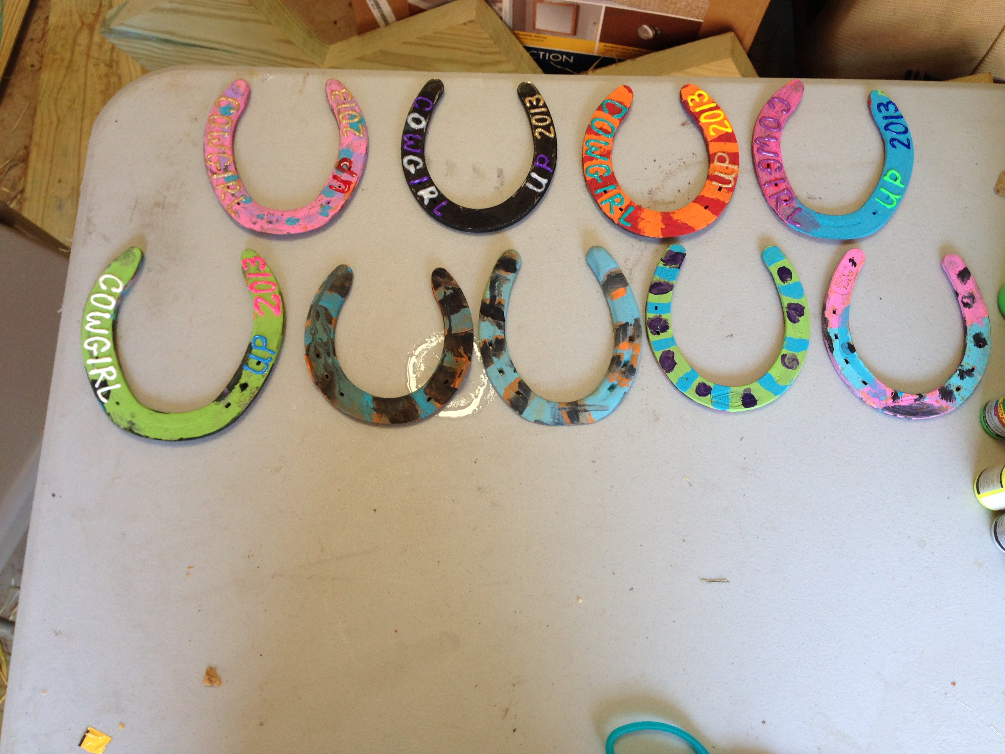 Summer camp cowgirl up pony parties for Wholesale horseshoes for crafts
